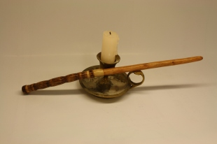 Hand carved birch wand from Hufflepuffery at Etsy.com.