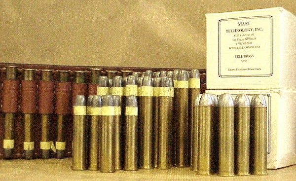Some cartridges for the Sharps rifle. (via conjay.com)