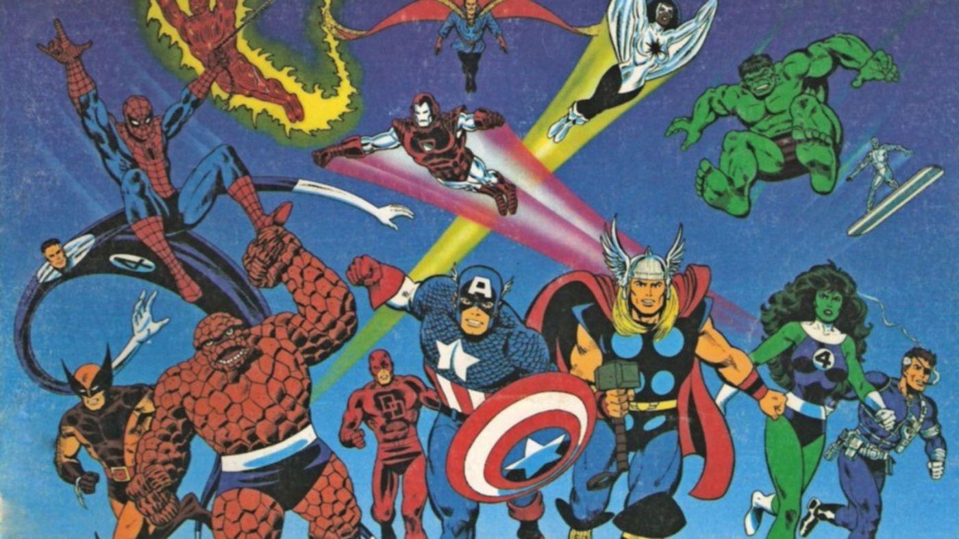 Marvel Super Heroes RPG cover, 1986.